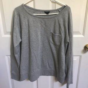 Jcrew gray pocket sweatshirt-worn once
